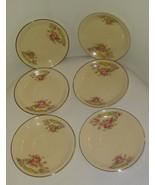 Vintage Lot Of (6) Universal Cambridge Camwood Ivory Rambler Saucers - $24.75