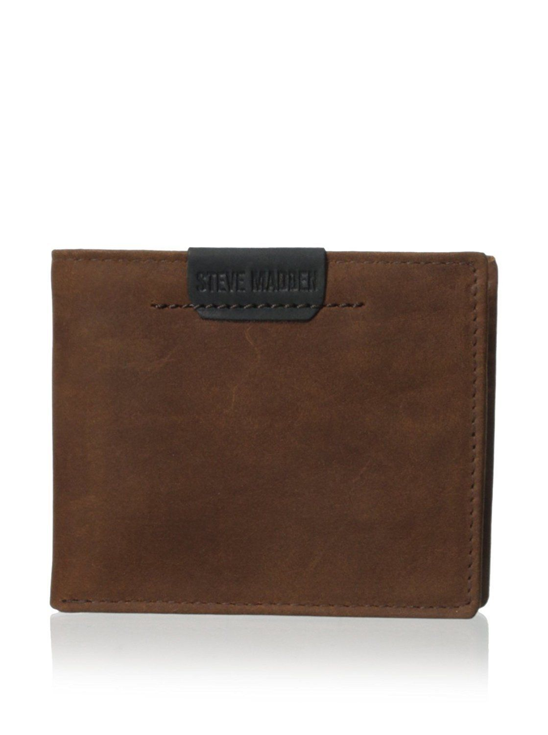 NEW STEVE MADDEN MEN'S PREMIUM LEATHER CREDIT CARD ID WALLET BROWN N80007/01