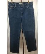 LEE Women's Relaxed STRAIGHT LEG Blue Denim Jeans Size 12 Medium (32 x 31)  - $13.95