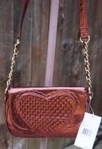 Betsey Johnson Magnetic Red Flap Heart Crossbody Handbag BB90715 - $49.16