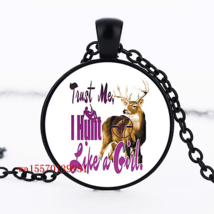 Hunting Girl Quote Cabochon Necklace >We Combine Shipping< (2547) - $3.71