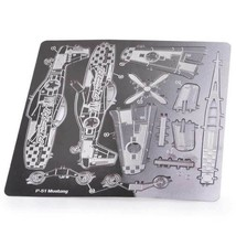 Creative 3D Laser Cut Do It Yourself Model Metallic P-51 Mustang Nano Mi... - $18.12