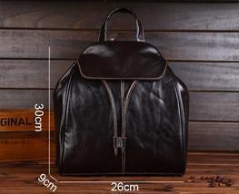 Fashion vintage women backpack daily school bag shoulder travel bag genuine leather 3 thumb200