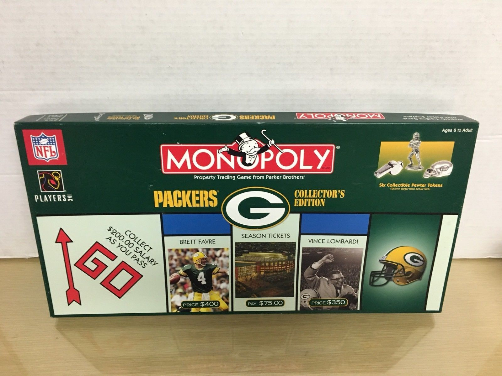 2003 P Bros- Green Bay Packers Monopoly Game - complete Ex/NM