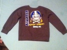Boy-Size 5T-Garanimals sweater-skeleton head-Football gray long sleeve - $8.25
