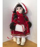 Christmas Belle Porcelain Doll - $9.49