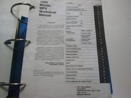 1992 Mazda Mpv Van Service Repair Shop Workshop Manual Factory Feo Book X 1992 - $98.98
