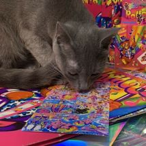 $22UPS1Day/$6USPS LISA FRANK Easter Puzzle Sealed stickers Rollouts Stamp Kitty image 4