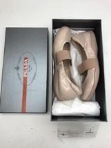 PRADA Milano Nude Flats Vernice Soft Cipria Calzature Donna EUR 37 / US 6.5 - $207.90