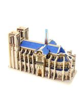 NEW Notre Dame Paris 3D Puzzles Cubic Wood Building Blocks Kids Educatio... - $15.00