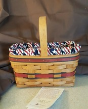 Longaberger 1994 ALL AMERICAN CANDLE BASKET #11134 With Liner & Protector - $19.99