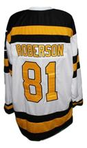 Custom Name # Boston Cubs Retro Hockey Jersey New White Any Size image 2