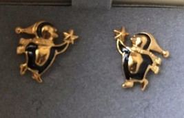 Vintage Avon 1996 Holiday Penguin Pierced Earrings Surgical Steel Post J... - $12.19