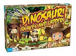 Outset Media Dinosaur Snakes and Ladders - A Dino-Sized Twist on a Class... - $30.63