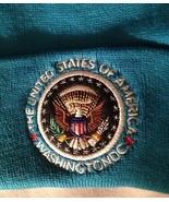 USA SKI CAP PRESIDENT EAGLE SEAL BEANIE HAT WASHINGTON DC TURQUOISE New ... - $11.89