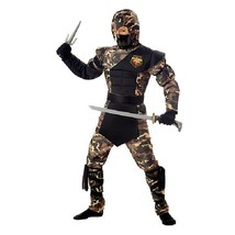 Kids Special Operations Ninja Costume Cosplay Dress Up Red Black Medium  - $16.82