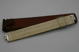Vintage Keuffel Esser Slide Rule 4080-3 Log Log Duplex Trig K+E Leather ... - $29.76