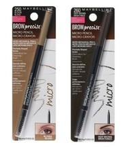 Mixed 2 x Maybelline Brow Precise Micro Pencil with Grooming Brush Brown... - $14.99