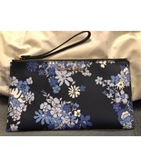 NWT MICHAEL KORS JET SET TRAVEL LARGE ZIP CLUTCH  NAVY FLORAL - £63.26 GBP