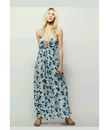 New $128 FREE PEOPLE Ivory/Blue Floral Mulberry Maxi Dress VARIOUS SIZES - $52.00
