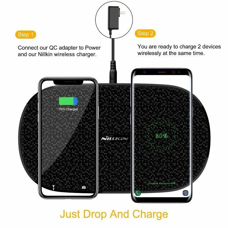 Fast Dual 2 In 1 Wireless Charger Xiaomi 9 Mix 2S Qi Pad Samsung Galaxy S10 5G image 7