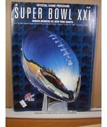 Official Game Program Super Bowl XXI January 25 1987 Broncos/New York Gi... - $8.09