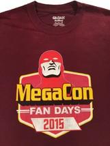 MegaCon Fan Days 2015 Rare Staff Burgundy Red T-Shirt Sz. XL - $19.99