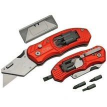 New Rite Edge Red Aluminum BOX CUTTER with Screwdriver - $7.55