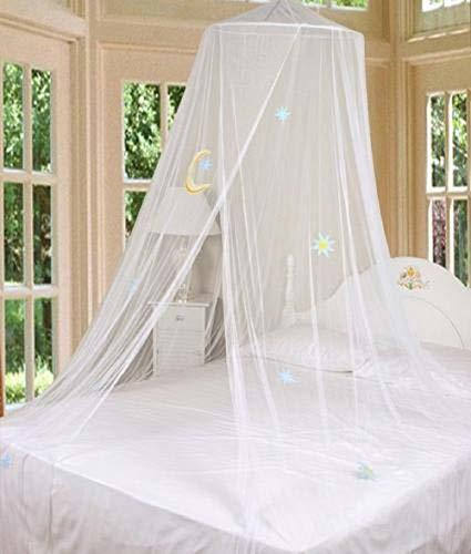 Primary image for tkcreativelinenswholesale White Bed Canopy Mosquito Netting with Hook Good Night