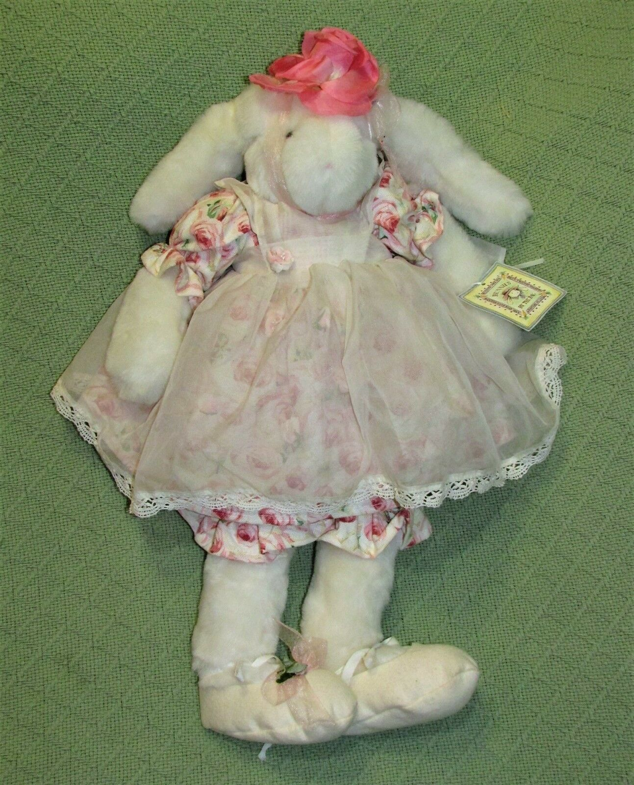 "Primary image for 19"" Bunnies By The Bay CUPCAKE ORIGINAL Plush RARE NUMBER 517 Rabbit Doll Toy"