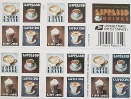 Espresso Drinks 1st Class (USPS) FOREVER Stamps 20 - $15.95