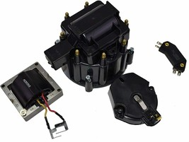 Chevy SBC 262 283 305 350 HEI Distributor Tune Up Kit & 8.0mm Spark Plug Wires image 2