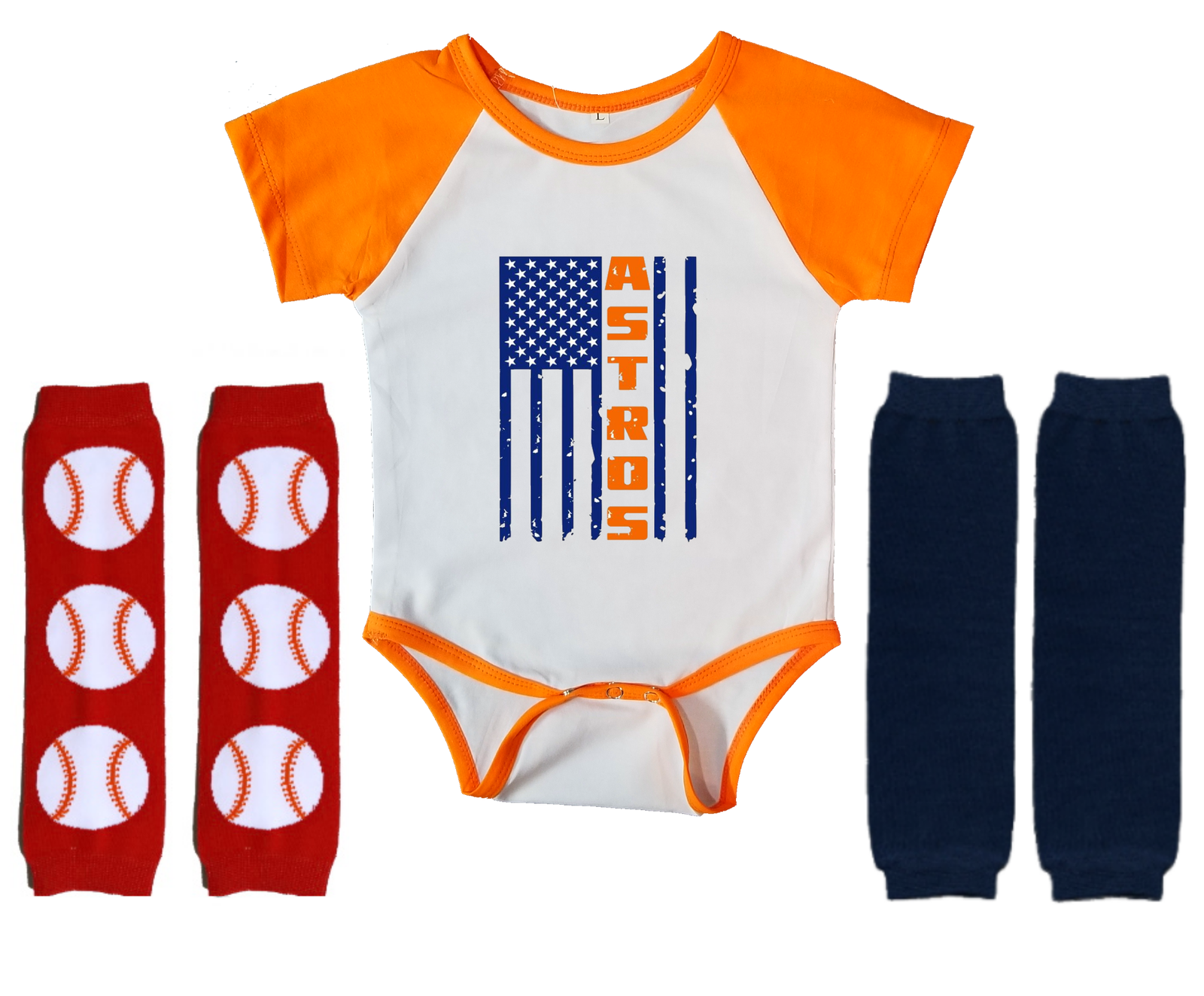 Primary image for Houston Astros Onesie Infant Bodysuit Flag Logo Leggings Set