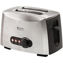 Betty Crocker BC-1618C 2-Slice Toaster, Brushed Stainless Steel - $445,18 MXN