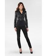 NWT 100% AUTH Mackage Black JADYN Cropped Leather Jacket $650 - $224.55