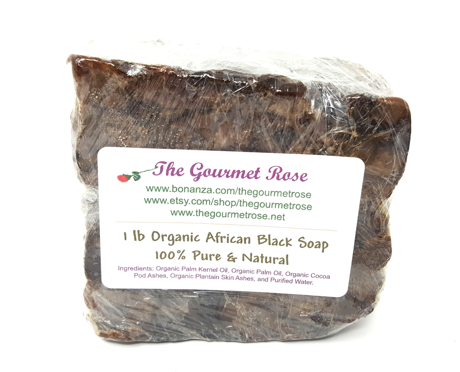 1 lb ORGANIC AFRICAN BLACK SOAP 100% Natural Anti Acne Blemish Remedy Complexion