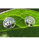 Powerful Tree of Life Stud Earrings Cast with 10 Ancient spells - $33.33
