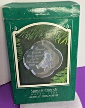 1985 Special Friends bring special joys to Christmas Acrylic Ornament Clear - $4.99