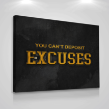 "Motivational Canvas Print Wall Office Decor Excuses Hustle Modern Art 30"" x 40"" - $116.96"