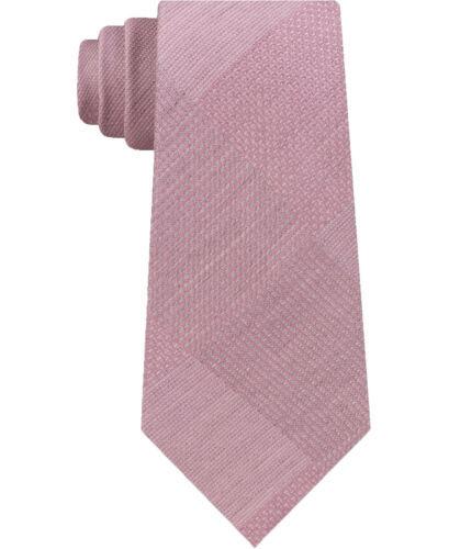Kenneth Cole Mens Updated Glen Self-tied Necktie (Pink, One Size)