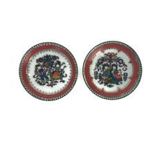 Pair Vintage Mid Century Arta Handmade In Austria Enamel Bowls Pin Tray ... - $23.33