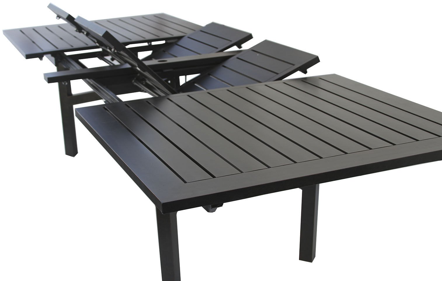 Expandable OUTDOOR PATIO 44X130 RECTANGLE EXTENDABLE DINING TABLE