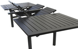Expandable OUTDOOR PATIO 44X130 RECTANGLE EXTENDABLE DINING TABLE - $3,267.00