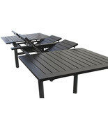 Expandable OUTDOOR PATIO 44X130 RECTANGLE EXTENDABLE DINING TABLE - €2.890,89 EUR