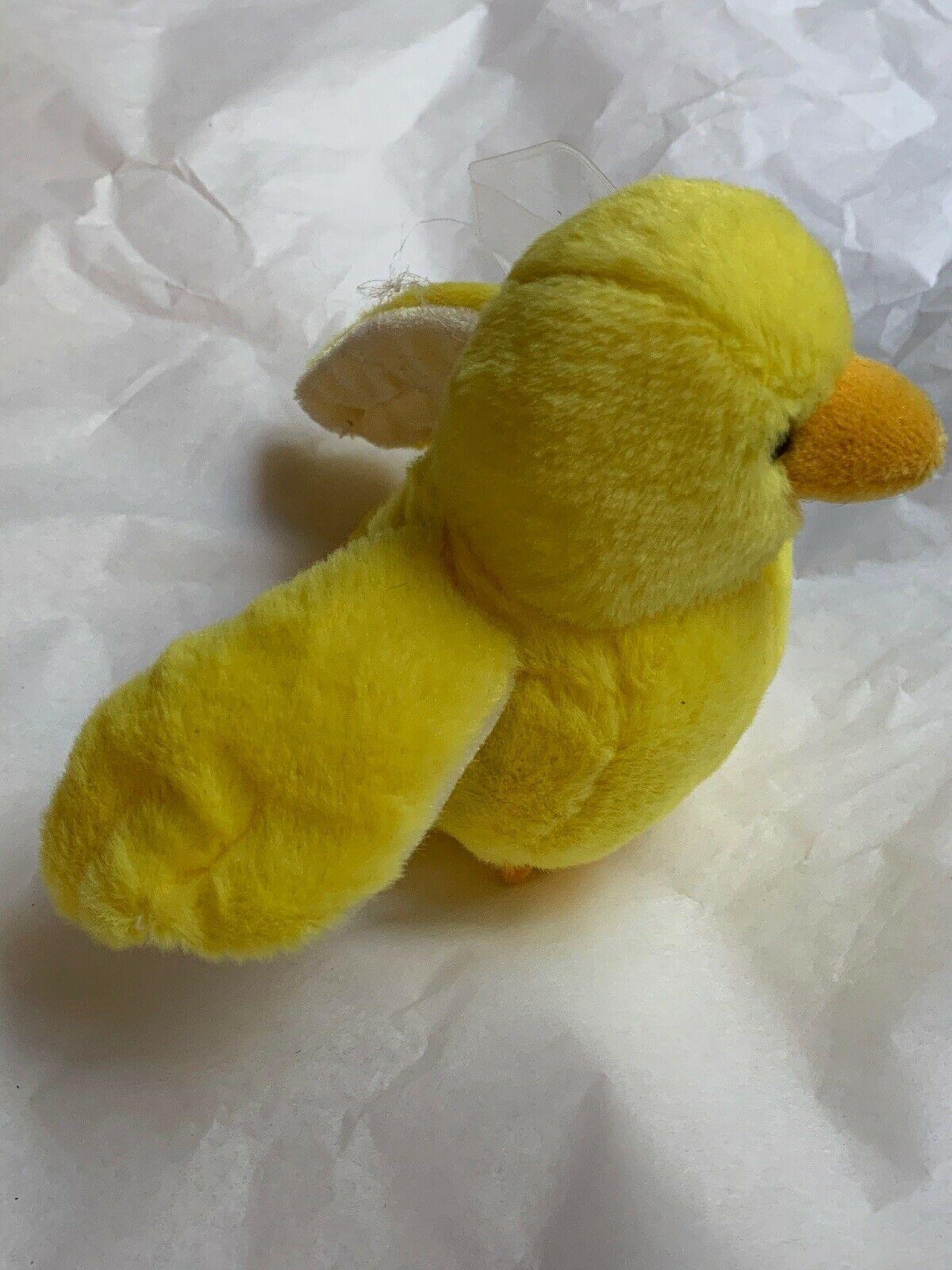 ganz webkinz lil kinz yellow canary bird plush w Code Card • Used Doll Toy Cute image 3
