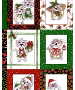 18 Smaller Panels on 1 Large Panel, Out of Print, Kitty Kitty Christmas,... - $16.31