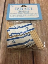Israel Flags Toothpicks Pack of 50 Israeli Independence Day Star of David  - $6.92