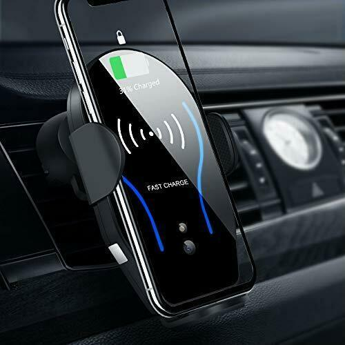 Wireless Qi Fast Car Charger Cell Phone Mount Holder Auto Clamp iPhone Samsung