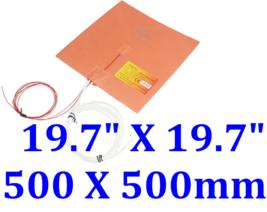 """19.7"""" X 19.7"""" 500 X 500mm 24V 480W  w/ 3M 3D Printer HeatBed Silicone Pa... - $105.99"""