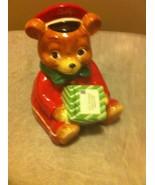 HARRY & DAVID CHRISTMAS COOKIE JAR--CUBBY--BEAR--2010--POSTMAN--FREE SHI... - $35.98